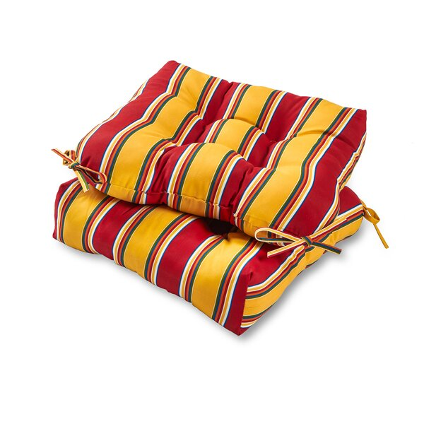 Henrich Indoor/Outdoor Dining Chair Cushion (Set of 2) by Andover Mills