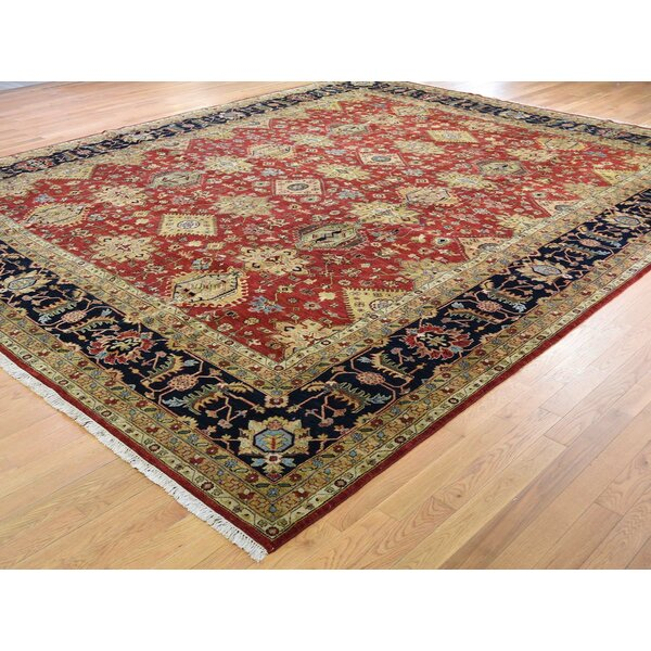 One-of-a-Kind Freeland Hand-Knotted Light Brown 12' x 14'8 Wool Area Rug