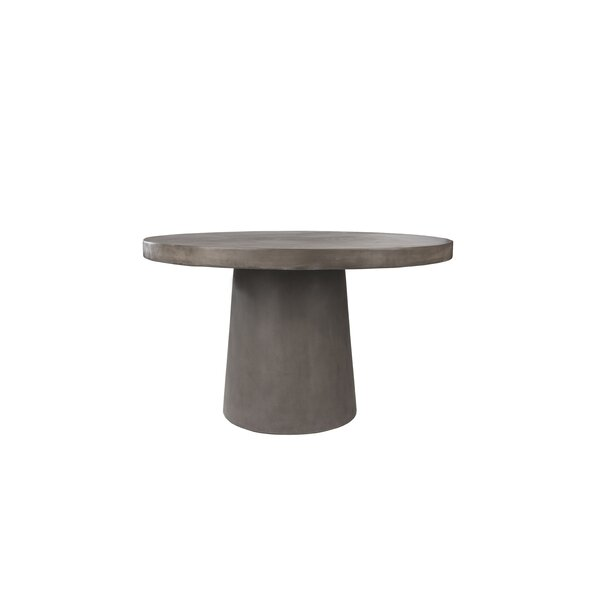 Linke Stone/Concrete Dining Table by 17 Stories