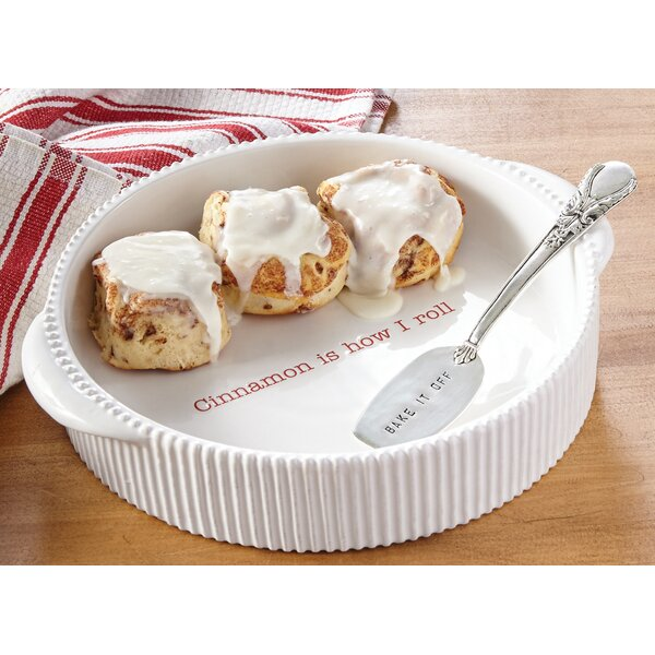 2 Piece Round Cinnamon Roll Baker Set by Mud Pie™