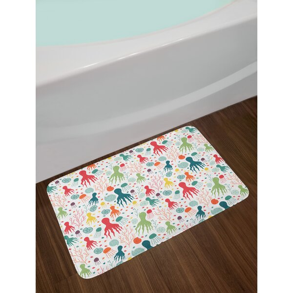 Ocean Themed Octopus Bath Rug by East Urban Home