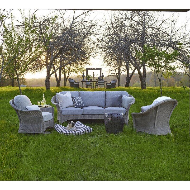 Summer Classics Regent Curved Patio Sofa With Cushions Wayfair