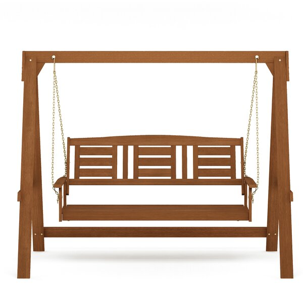 Peake 3 Seater Porch Swing with Stand by Alcott Hill