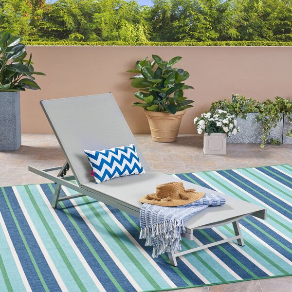 Dillion Outdoor Reclining Chaise Lounge by Orren Ellis