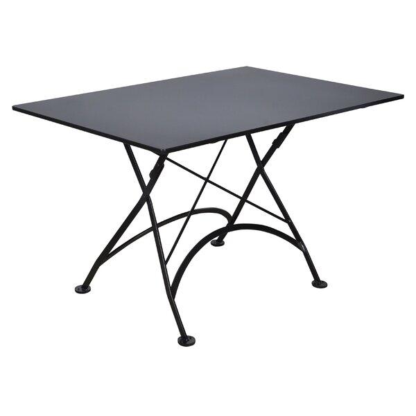 Warroad Folding Metal Dining Table by Fleur De Lis Living