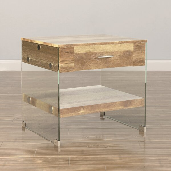 Guero Contemporary End Table by Trent Austin Design