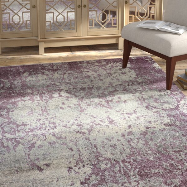 Dipasquale Champagne/Plum Area Rug by Bungalow Rose