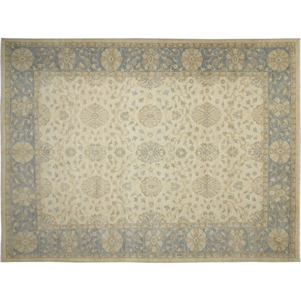 One-of-a-Kind Romona Hand-Knotted Oriental Ivory Area Rug by Isabelline