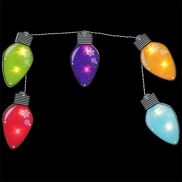 5 Shimmering 12 Bulb String Light Set by Penn Distributing