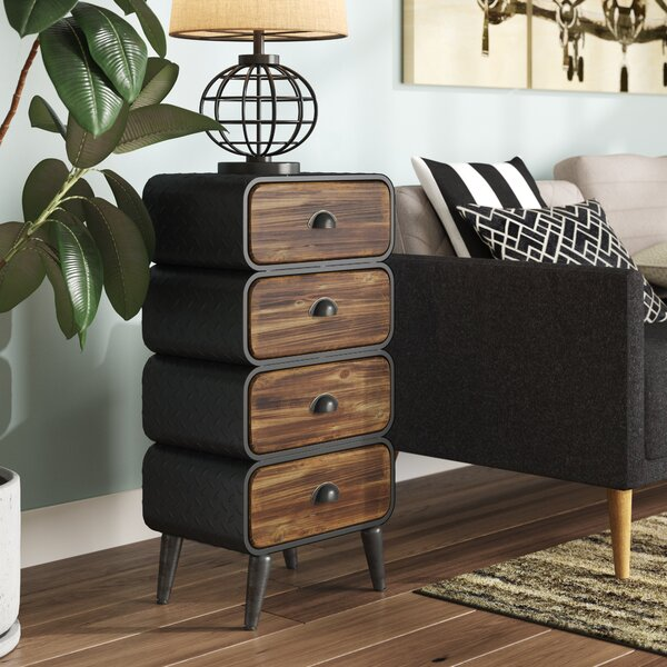 Krish Rounded 4 Drawer Chest by Williston Forge