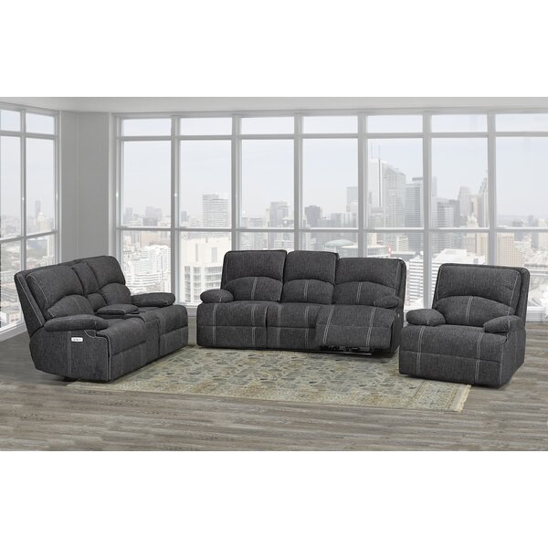 Allistair 3 Piece Reclining Living Room Set by Red Barrel Studio