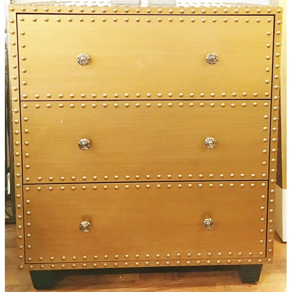 Bousquet 3 Drawer Accent Chest By Everly Quinn