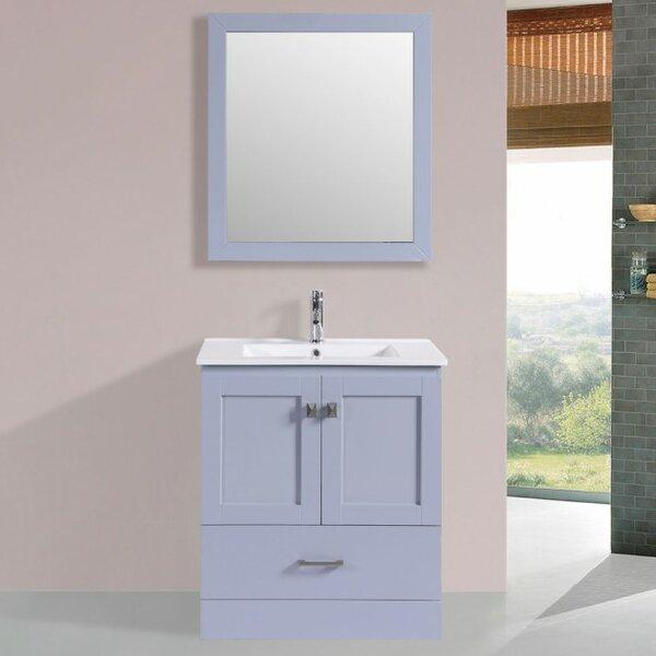 Landrum Modern 30 Single Bathroom Vanity Set with Mirror by Latitude Run
