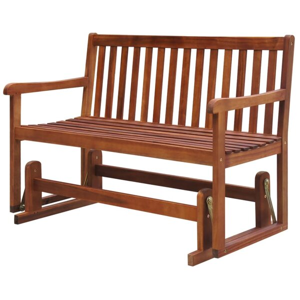 Ousley Swing Wooden Garden Bench by Highland Dunes
