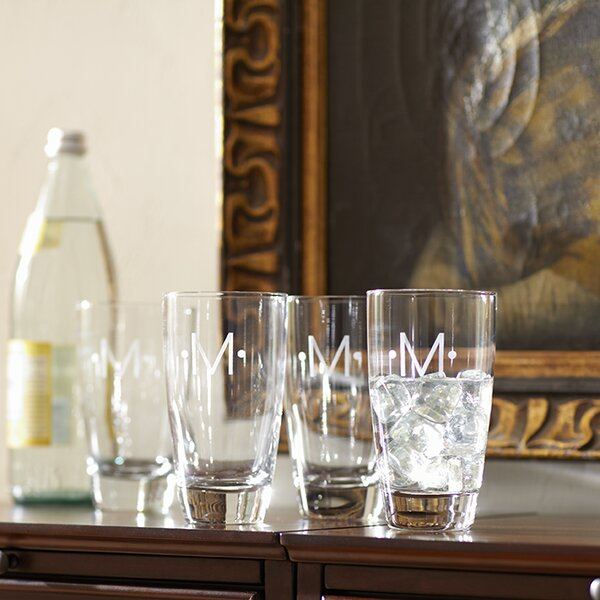 Monogrammed Highball Glasses (Set of 4) by Birch Lane™