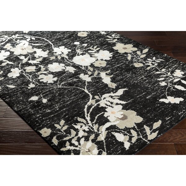 Pippin Hand-Knotted Black/Gray Area Rug by Astoria Grand