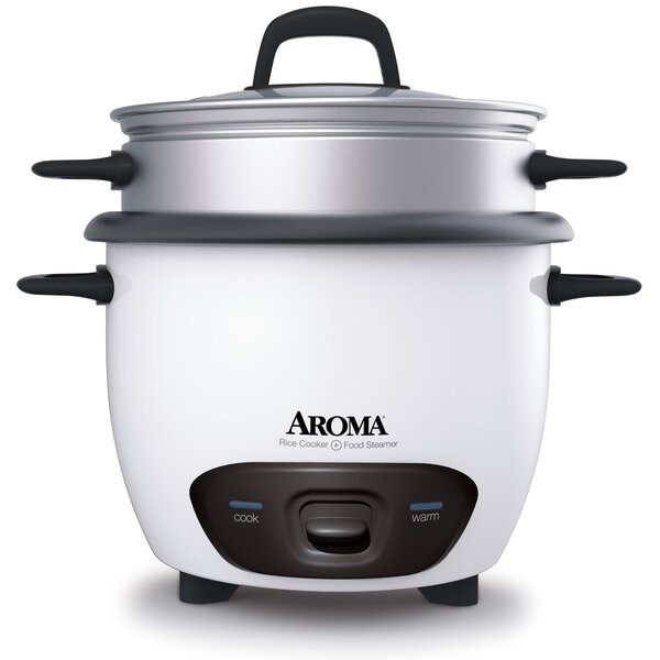 6 Cup Rice Cooker and Food Steamer by Aroma