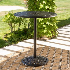 Ainsworth Outdoor Cast Aluminum Pub Table by Astoria Grand