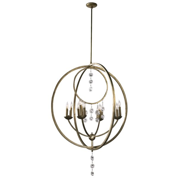 16 - Light Candle Style Globe Chandelier