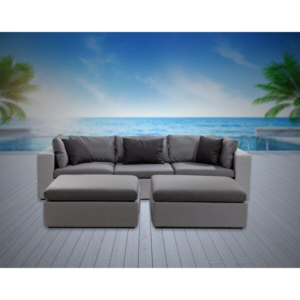 Malani 5 Piece Sunbrella Sofa Seating Group with Sunbrella Cushions by Brayden Studio