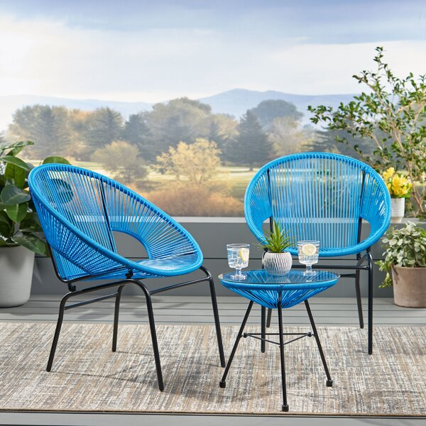 Gina Outdoor Modern Seating Group Rattan By Wrought Studio