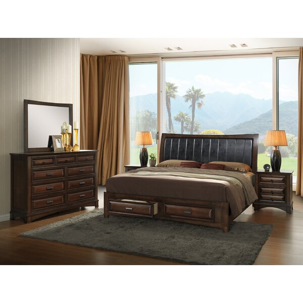 Broval Upholstered Storage Platform Configurable Bedroom Set by Roundhill Furniture