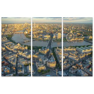 Captivating London Eveningu0027 Wall Art Multi Piece Image On Canvas