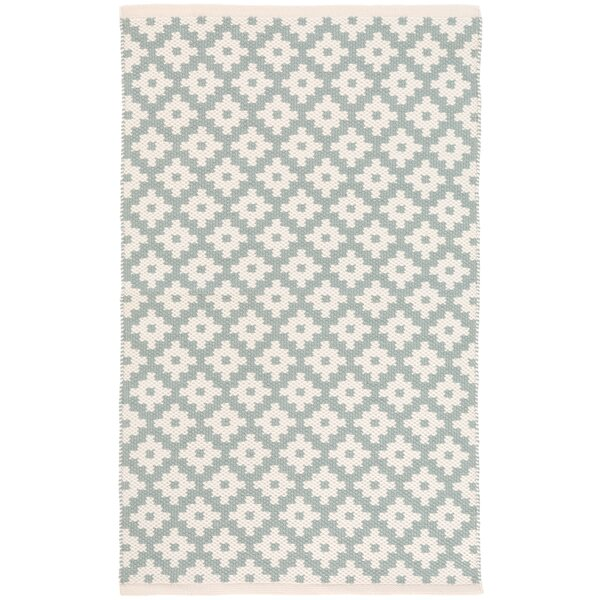 Samode Light Blue/Ivory Indoor/Outdoor Area Rug by Dash and Albert Rugs