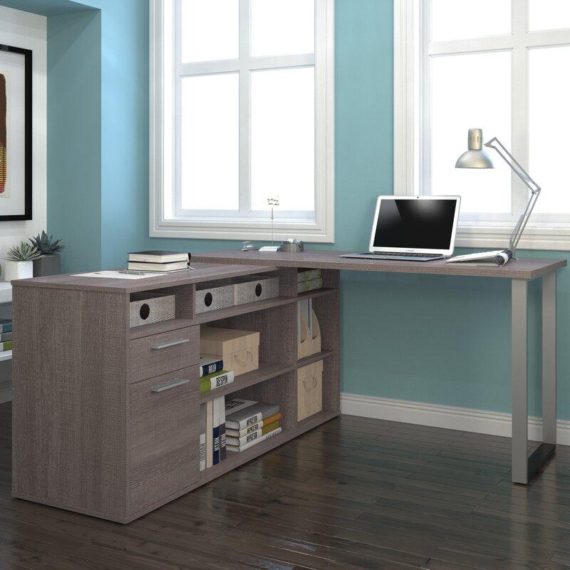 alves lshaped melamine top computer desk