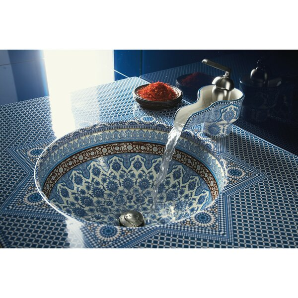 Marrakesh Ceramic Circular Undermount Bathroom Sink by Kohler