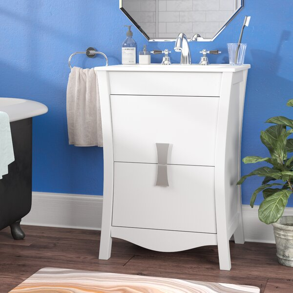 Cataldo Exquisite Floor Mount 24 Single Bathroom Vanity Set by Royal Purple Bath Kitchen