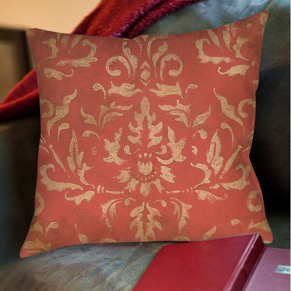 Golden Baroque Printed Throw Pillow by Manual Woodworkers & Weavers