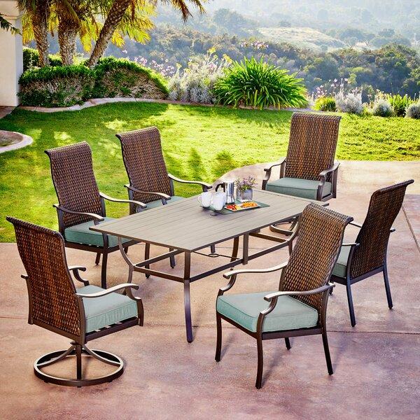 Kinlaw Rhone Valley 7 Piece Dining Set with Cushions Bayou Breeze BBZE5372