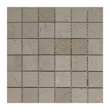 Crema Nova 2 x 2 Marble Mosaic Tile in Beige