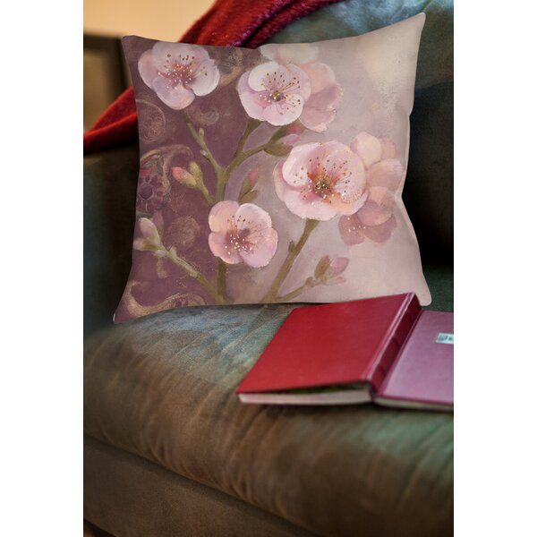 Gypsy Blossom I Printed Throw Pillow by Manual Woodworkers & Weavers