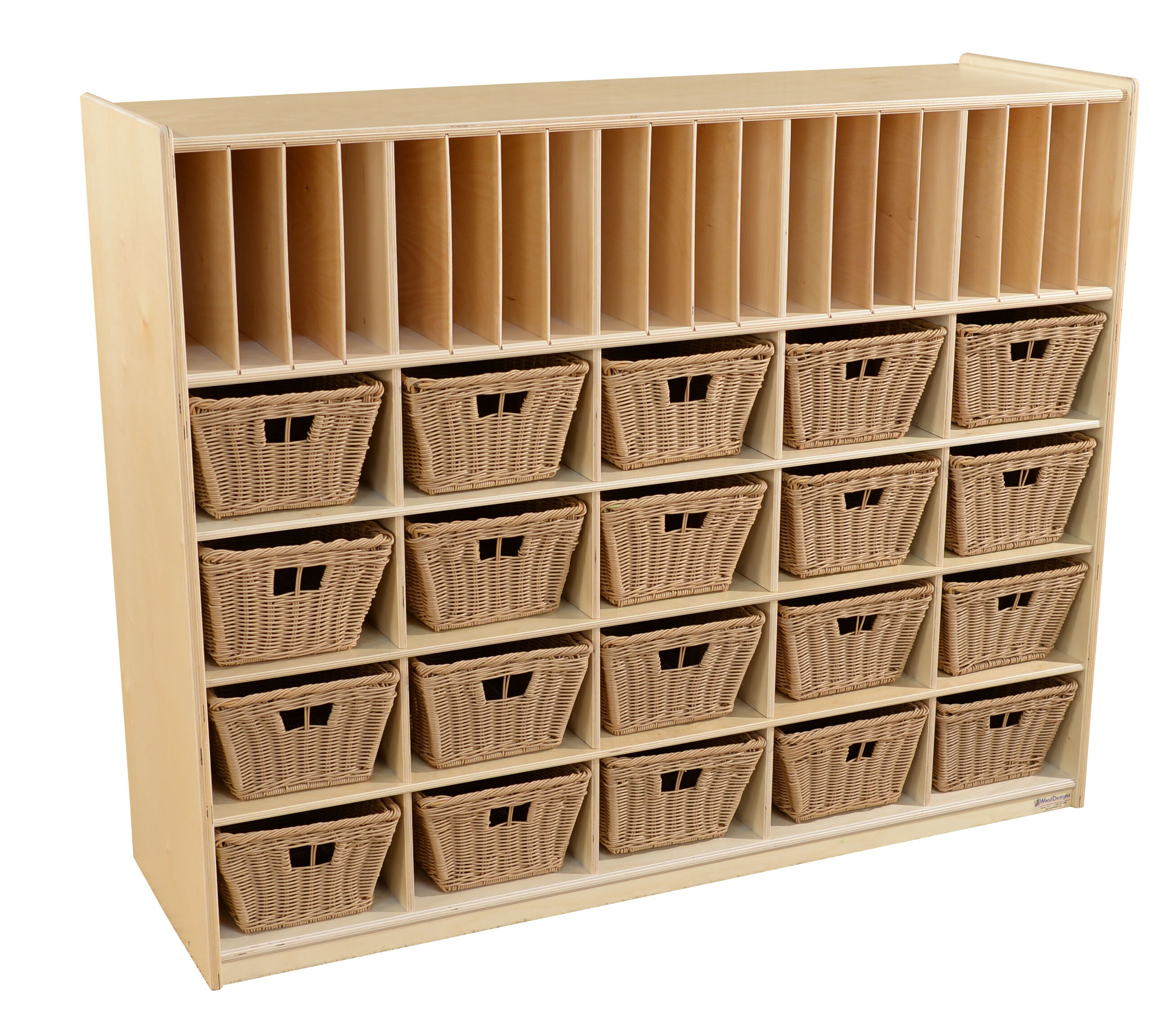 Wood Designs 40 Compartment Cubby With