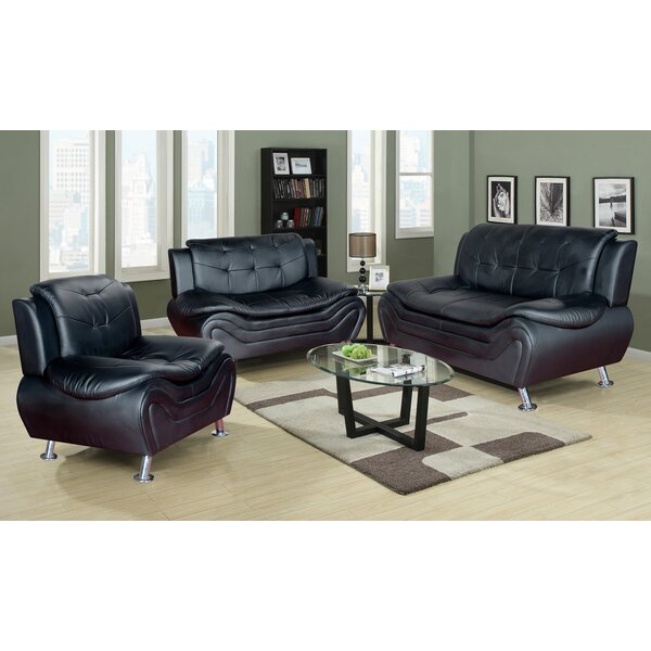 Ethel 3 Piece Living Room Set by PDAE Inc.