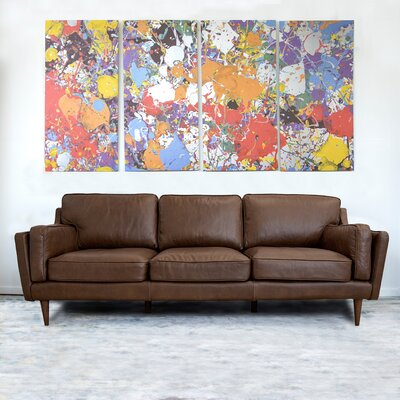 Foundstone Mid Century Modern Leather Sofa Upholstery Color Sofas