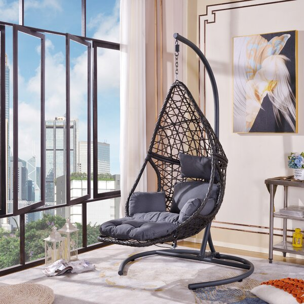 Cleorand Swing Chair With Stand By Bayou Breeze