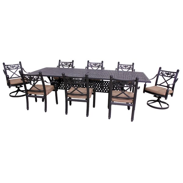 Baldwin 9 Piece Dining Set with Cushions by California Outdoor Designs