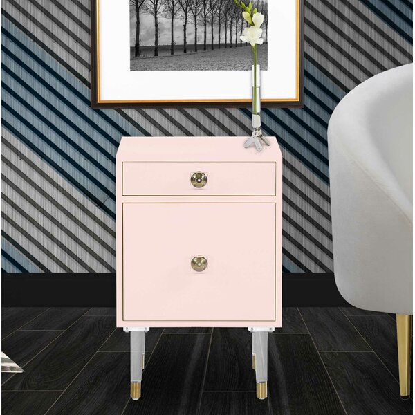 Natalya 1 Drawer Nightstand by Everly Quinn