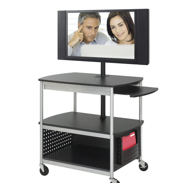 Scoot Flat Panel Multimedia AV Cart by Safco Products Company