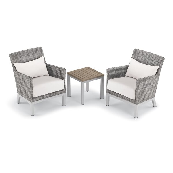 Saleem 3 Piece Rattan with Cushions by Brayden Studio Brayden Studio