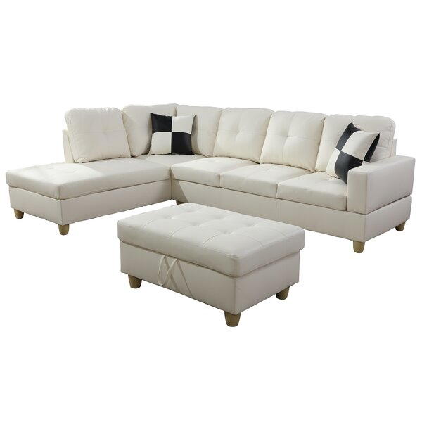 Wellington Living Room Sectional with Ottoman by Ebern Designs Ebern Designs