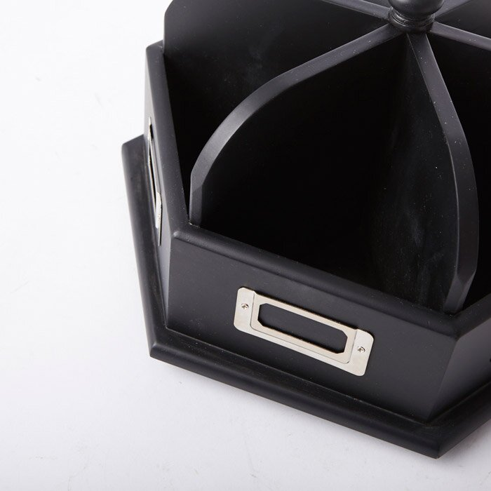 Studio Designs Wood Desk Carousel in Black 12166