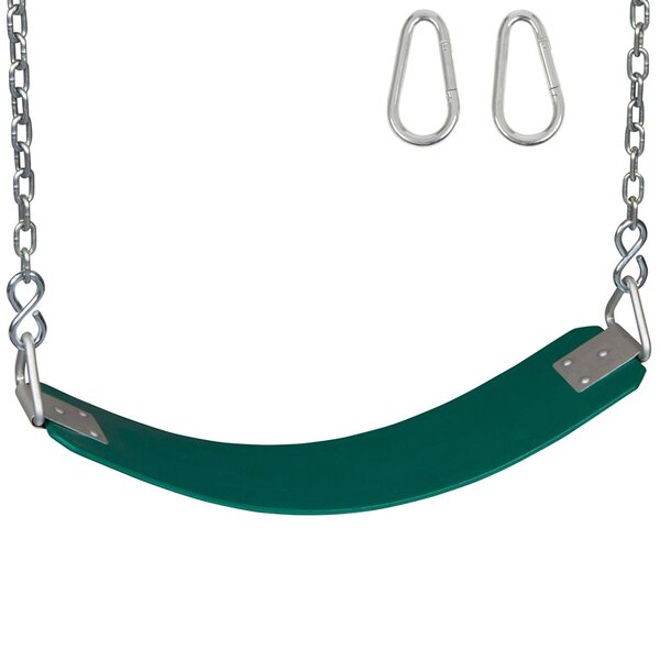 Commercial Seat with Chains And Hooks by Swing Set Stuff