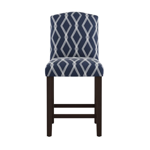 Edford Arched Crossweave 26 Bar Stool by Wrought Studio