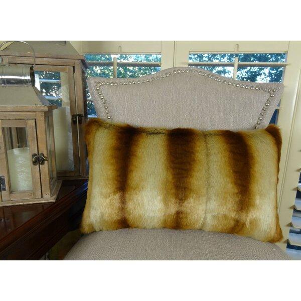 Sheared Chinchilla Handmade Throw Pillow by Plutus Brands