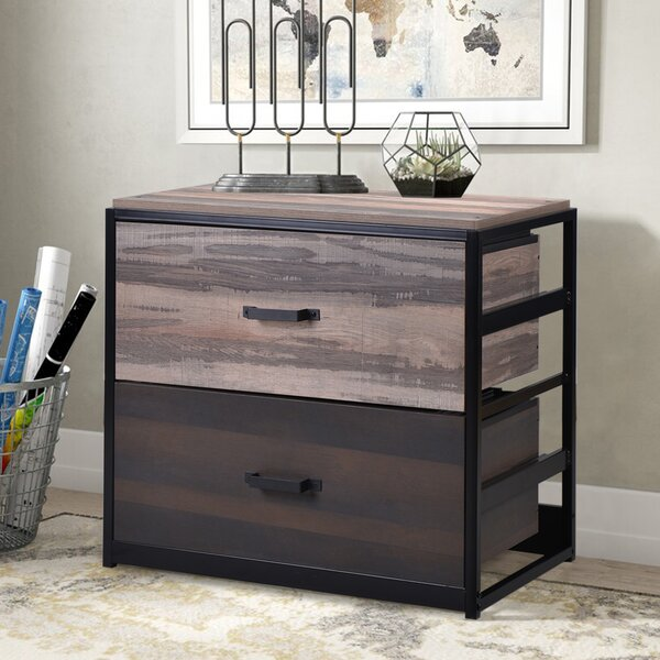 Antonio MDF 2-Drawer Lateral Filing Cabinet