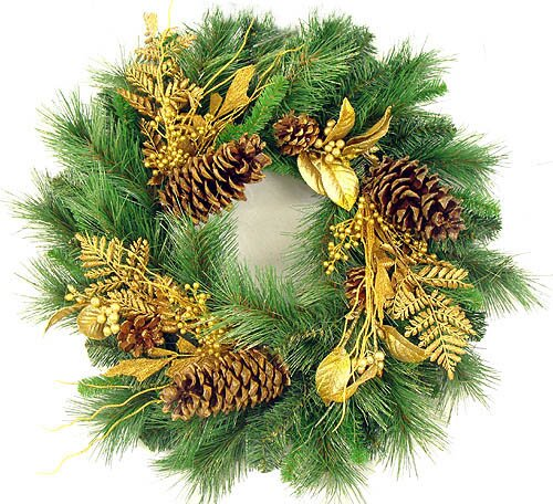 24 Glittered Mixed Pine Artificial Christmas Garland by Darice